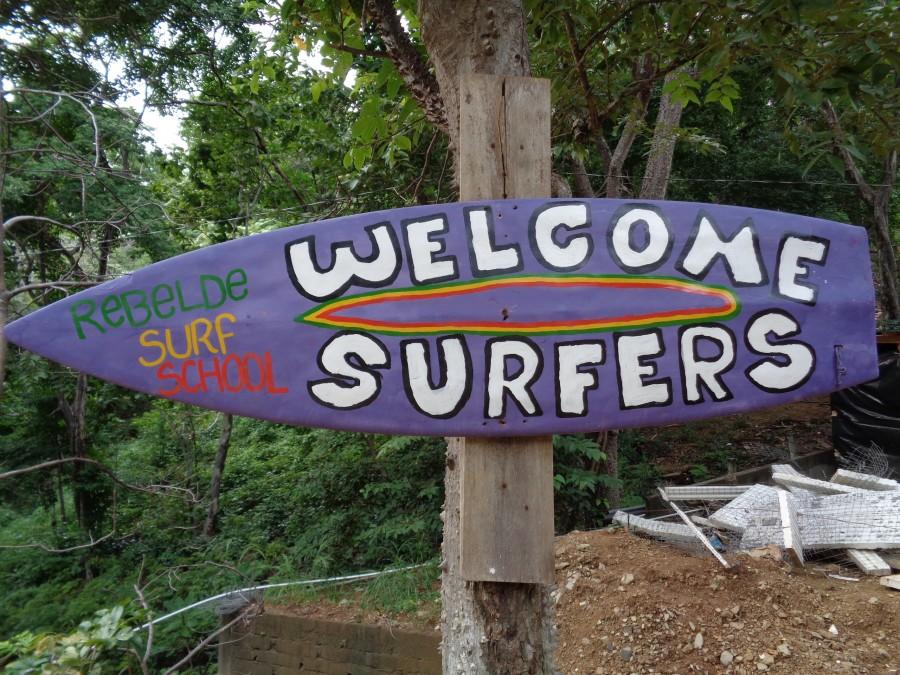 schild surfen wellenreiten nicaragua
