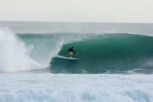 Getting barreled in Playa Colorado, Nicaragua!