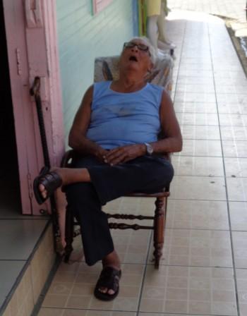 schlafender mensch san juan del Sur