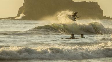 Playa Maderas ist eine Surf-Spielwiese