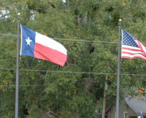travel use texas flags