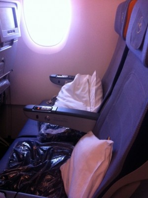 sitze Flugzeug reise