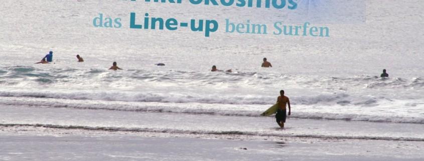 das line-Up beim surfen und Wellenreiten