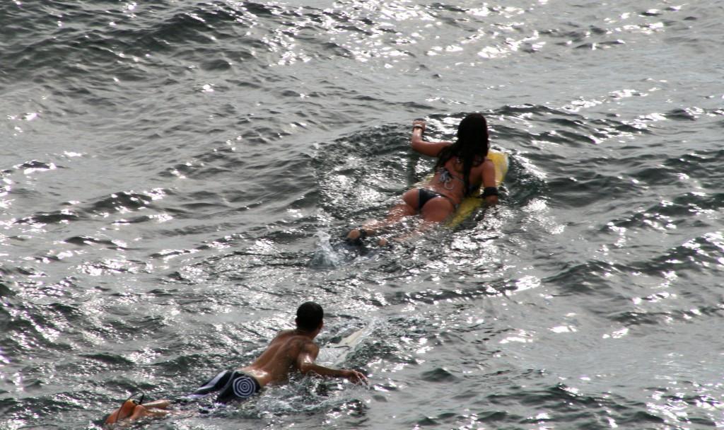 Surfer und Surferin