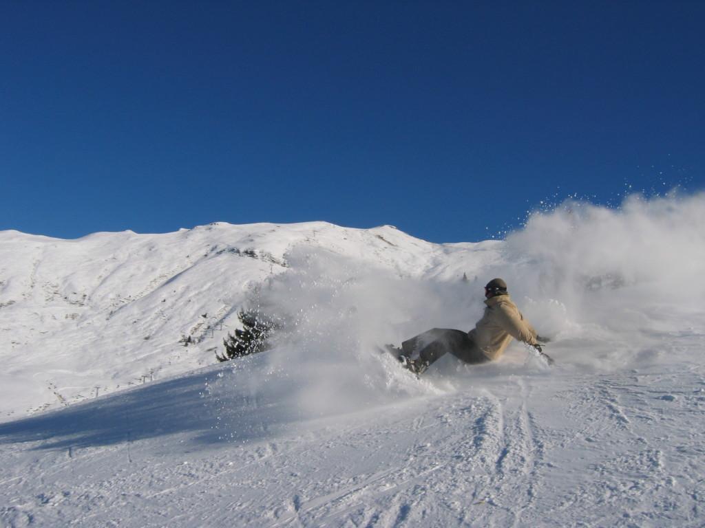 snowboarden in der Schweiz