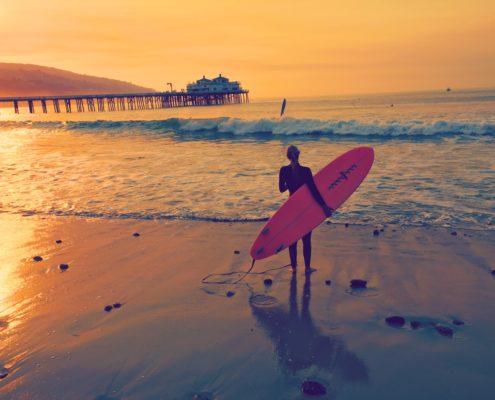 surfen und arbeiten