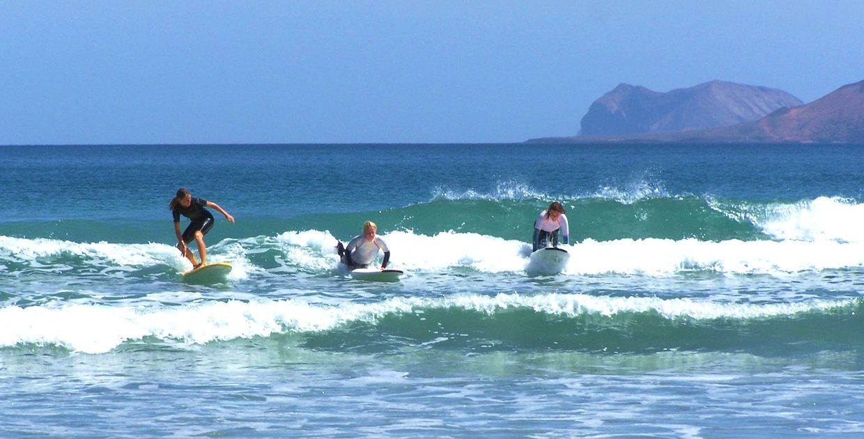 Surfen auf Lanzarote