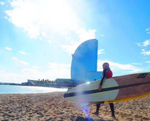 Surfen in Barcelona